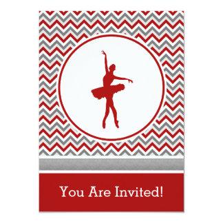 Convite de festas vermelho do dançarino de Chevron