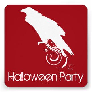 Convite de festas vermelho do Dia das Bruxas do