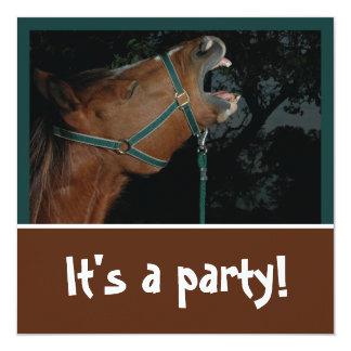 Convite de festas zurrando do cavalo