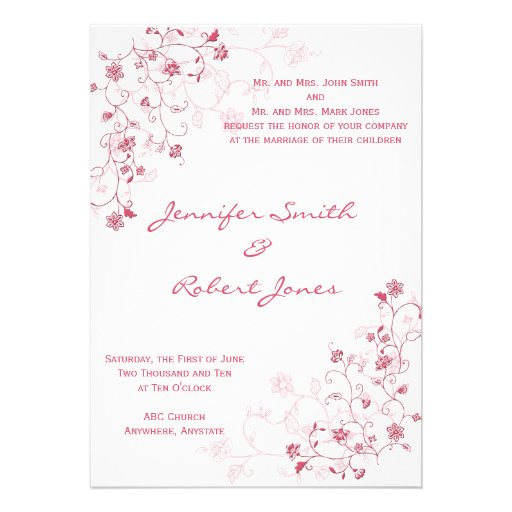 Convite de florescência cor-de-rosa das videiras
