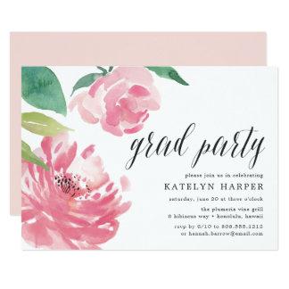 Convite de florescência da festa de formatura da