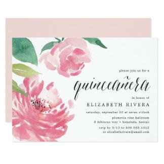 Convite de florescência da peônia | Quinceanera