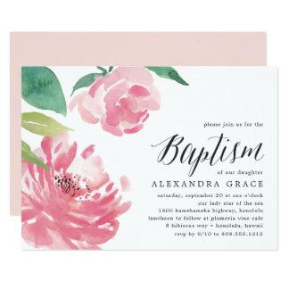 Convite de florescência do baptismo da peônia |