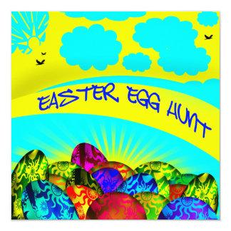 Convite de incandescência da caça do ovo da páscoa
