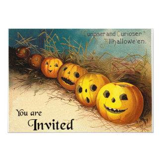 Convite de Jack O'Lanterns o Dia das Bruxas do Convite 12.7 X 17.78cm