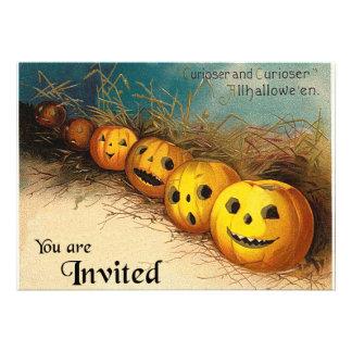 Convite de Jack O'Lanterns o Dia das Bruxas do vin