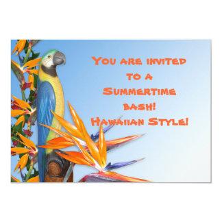 Convite de Luau para o partido do verão