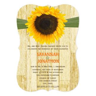 Convite de madeira cortado do casamento do