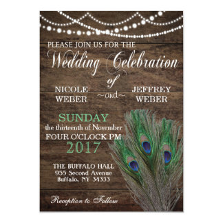 Convite de madeira do casamento do país de Boho do