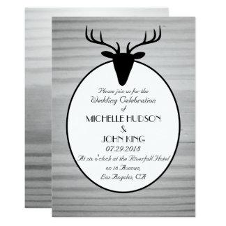 Convite de madeira do casamento no inverno dos