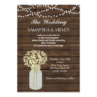 Convite de madeira rústico do casamento da