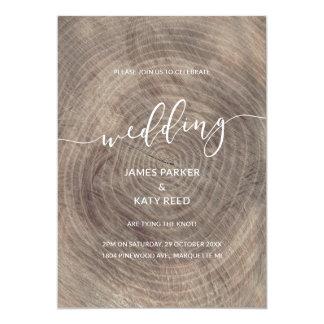 Convite de madeira rústico e elegante do casamento