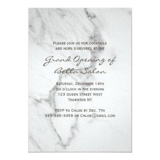 Convite de mármore elegante da grande inauguração