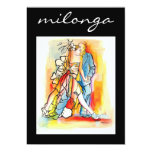 Convite de Milonga do tango Convite 12.7 X 17.78cm