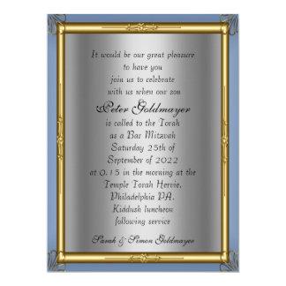 Convite de Mitzvah do bar Convite 16.51 X 22.22cm