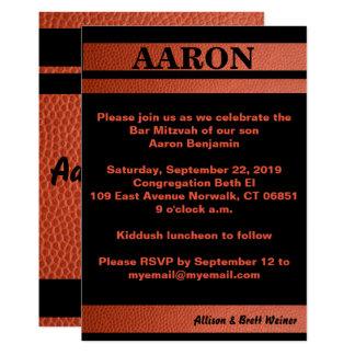 Convite de Mitzvah do bar das aros