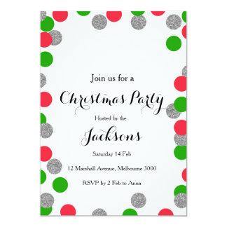 Convite de prata da festa de Natal