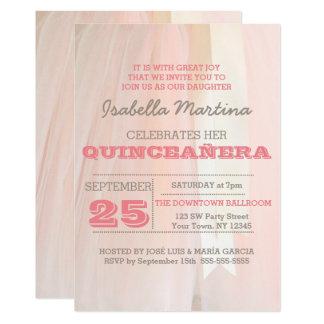 Convite de Quinceañera do tutu do balé