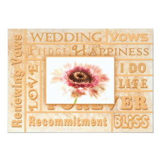 Convite de renovação dos votos de casamento - flor