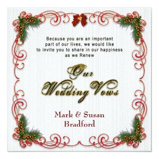 Convite de renovação dos votos do Natal/casamento