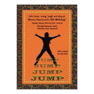 Convite de salto da silhueta