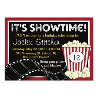 "Convite de ""Showtime"" da pipoca"