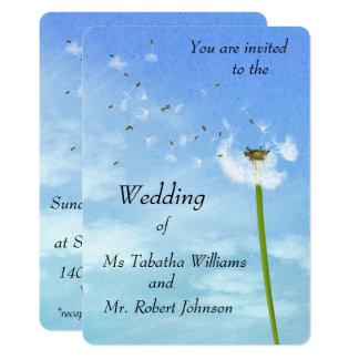 Convite de sopro do casamento do impressão das