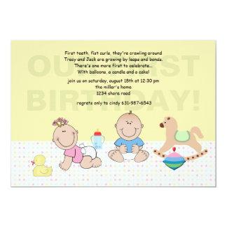 Convite de sorriso dos bebês