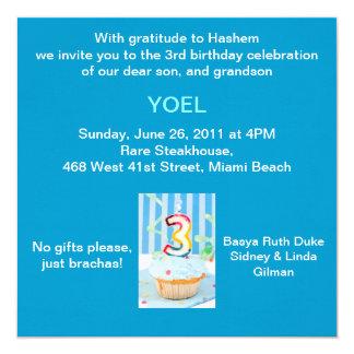 Convite de Upsherin - cupcake azul - Aleph Bais