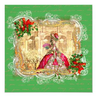 Convite de Versalhes do Natal de Marie Antoinette