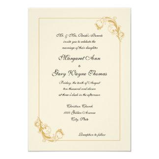 Convite decorativo clássico do casamento da beira