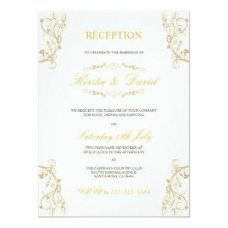 Convite decorativo da recepção de casamento