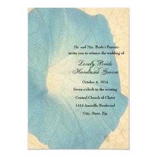 Convite desvanecido do casamento do pergaminho da
