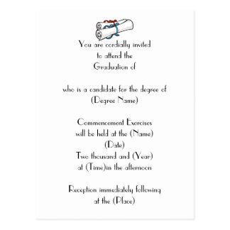 Convite-Diplomas feitos sob encomenda da graduação Cartão Postal