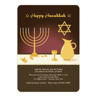 Convite do ajuste de Hanukkah