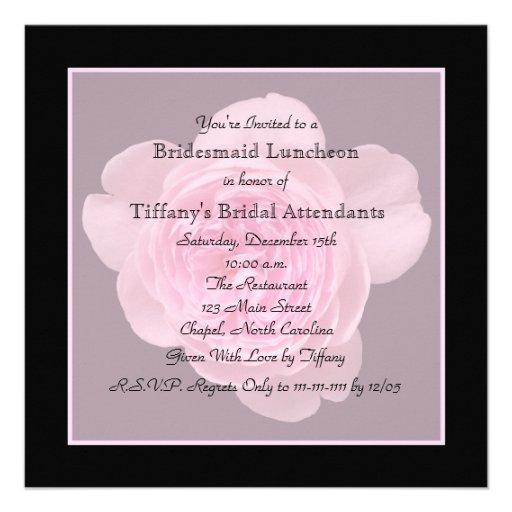 Convite do almoço da dama de honra