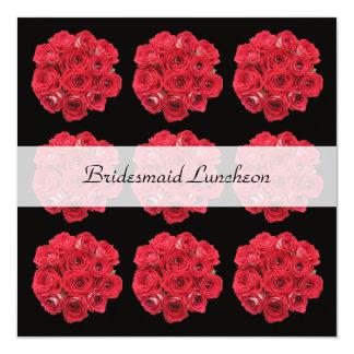 Convite do almoço da dama de honra -- Rosas