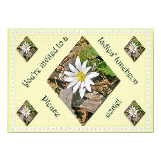 Convite do almoço das senhoras do Wildflower do Convite 12.7 X 17.78cm