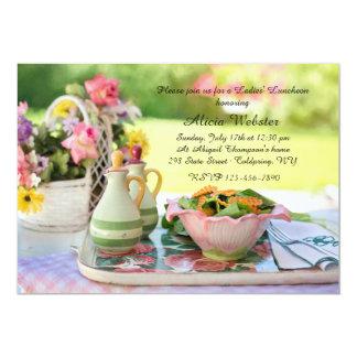 Convite do almoço do ajuste do jardim