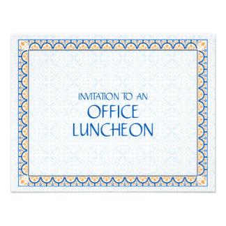 Convite do almoço do escritório dos padrões das