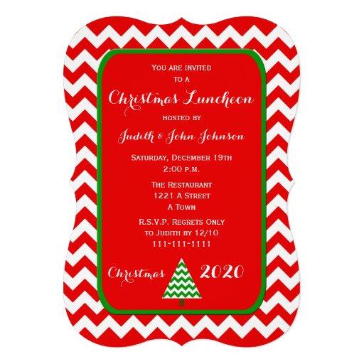 Convite do almoço do Natal em Chevron