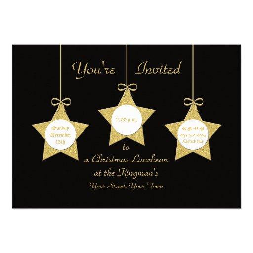 Convite do almoço do Natal -- Estrelas do Natal