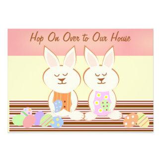 Convite do almoço dos coelhos de felz pascoa
