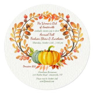 Convite do almoço dos elementos do outono