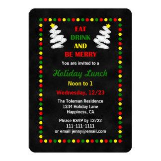Convite do almoço ou do almoço do Natal do quadro