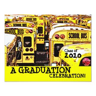 Convite do amarelo do auto escolar da festa de convite 10.79 x 13.97cm