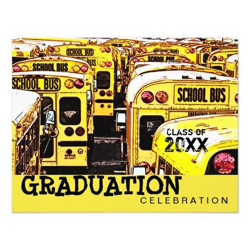 Convite do amarelo do auto escolar da festa de for