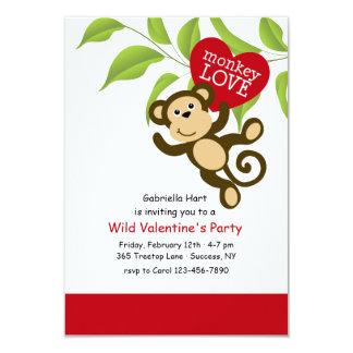 Convite do amor do macaco