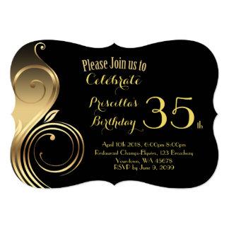 Convite do aniversário, alguma idade, estilo de