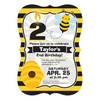Convite do aniversário da abelha